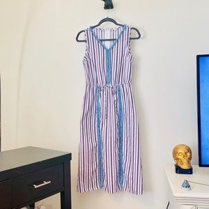 T.H.M.L STRIPED TIE DRESS WITH SHORTS